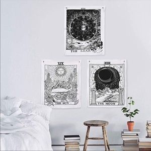 Tarot Tapestry The Moon The Star The Sun Tapestry